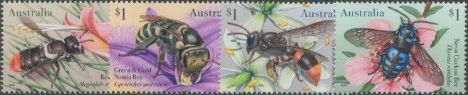 AUS 14/05/2019 Native Bees set of 4